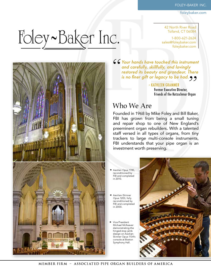 Prospectus Page 1 for Foley-Baker, Inc.